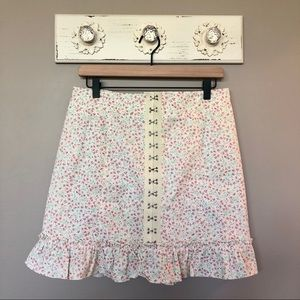 UO | Love Struck Floral Hook + Eye Mini Skirt